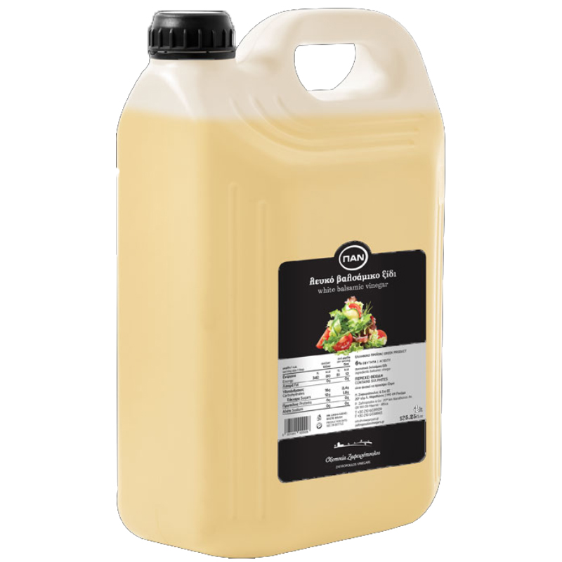 Λευκό Βαλσάµικο ξίδι ΠΑΝ - πλαστικό δοχείο 4lt