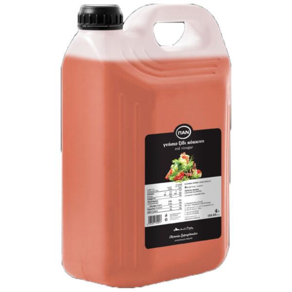 Ξίδι Κόκκινο ΠΑΝ - πλαστικό δοχείο 4lt