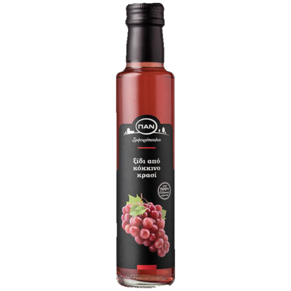 Ξίδι από Κόκκινο Κρασί ΠΑΝ - γυάλινη φιάλη 250ml