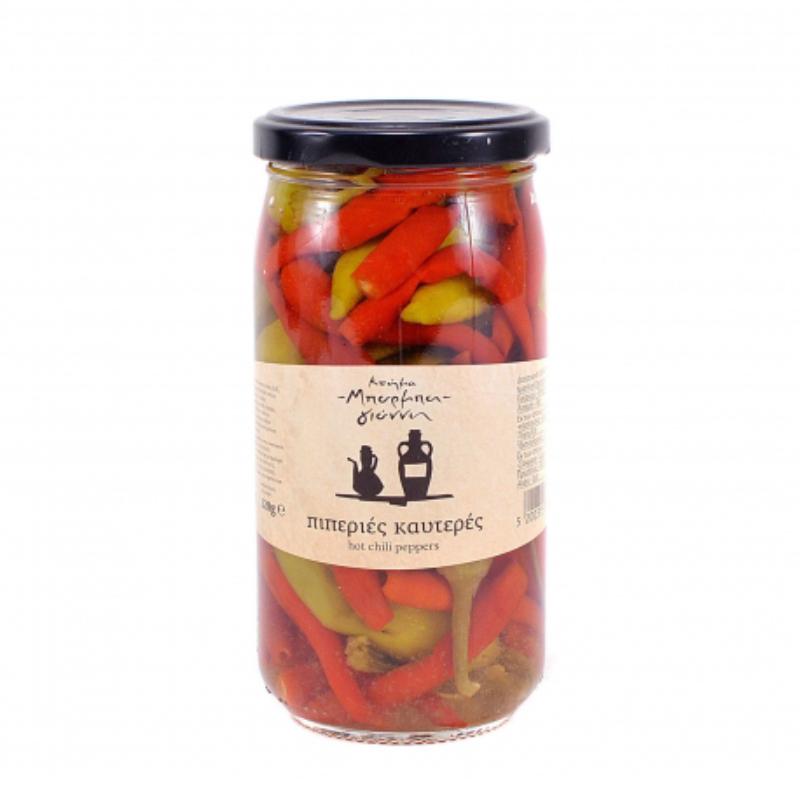 Πιπεριές καυτερές Μπάρμπα – Γιάννης βάζο 340gr