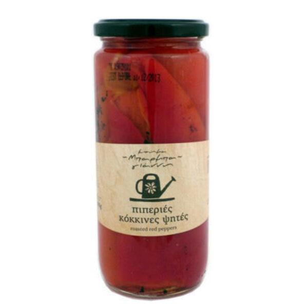 Πιπεριές κόκκινες ψητές Φλωρίνης Μπάρμπα – Γιάννης βάζο 450gr