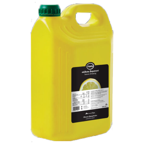 Lemon Dressing ΠΑΝ - πλαστικό δοχείο 4lt